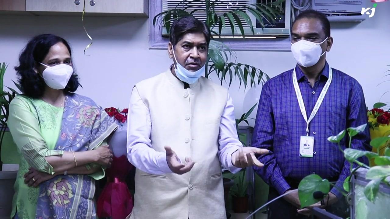 V.K. Gaur, CMD  National Seed Corporation Inaugurates New Krishi Jagran office